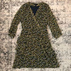 Banana Republic Long-Sleeve Tiered Ruffle Dress